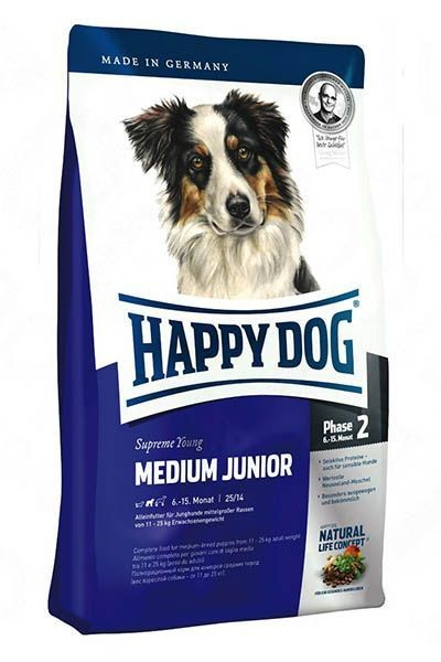 Happy Dog Supreme Young Medium Junior Orta Irk Yavru Köpek Maması 4 Kg