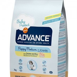 Advance Baby Protect Puppy Medium Chicken&Rice Tavuklu Orta Irk Yavru Köpek Mamasi 3 Kg