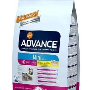 Advance Mini Senior Chicken&Rice Tavuklu 8+ Yaş Için Köpek Mamasi 3 Kg